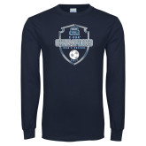 Navy Long Sleeve T Shirt-2017 Conference USA Mens Soccer