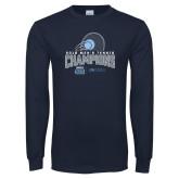 Navy Long Sleeve T Shirt-2018 CUSA Mens Tennis Champions