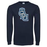 Navy Long Sleeve T Shirt-ODU Step