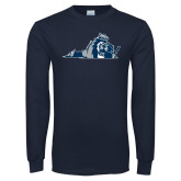 Navy Long Sleeve T Shirt-Lion State