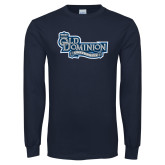 Navy Long Sleeve T Shirt-Old Dominion University