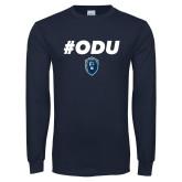 Navy Long Sleeve T Shirt-#ODU