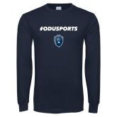 Navy Long Sleeve T Shirt-#ODUSPORTS