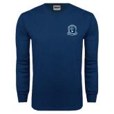Navy Long Sleeve T Shirt-Monarchs Shield