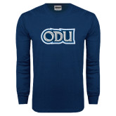 Navy Long Sleeve T Shirt-ODU