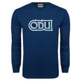 Navy Long Sleeve T Shirt-ODU