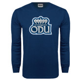 Navy Long Sleeve T Shirt-ODU with Crown