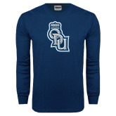 Navy Long Sleeve T Shirt-ODU Step