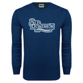 Navy Long Sleeve T Shirt-Old Dominion University