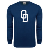 Navy Long Sleeve T Shirt-OD