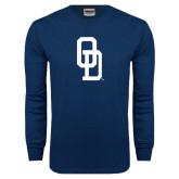 Navy Long Sleeve T Shirt-OD