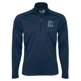 Syntrel Navy Interlock 1/4 Zip-Monarchs Shield