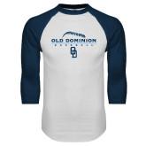 White/Navy Raglan Baseball T Shirt-Baseball Threads