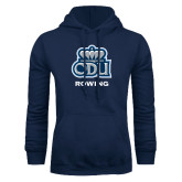 Navy Fleece Hoodie-Rowing