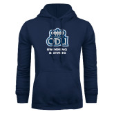 Navy Fleece Hoodie-Swimming and Diving