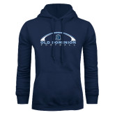 Navy Fleece Hoodie-Football Inside