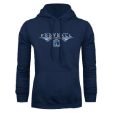 Navy Fleece Hoodie-Football Wings