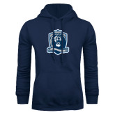 Navy Fleece Hoodie-Monarchs Shield