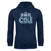 Navy Fleece Hoodie-ODU with Crown