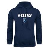 Navy Fleece Hoodie-ODU Hashtag