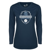 Ladies Syntrel Performance Navy Longsleeve Shirt-2017 Conference USA Mens Soccer