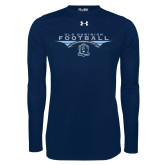 Under Armour Navy Long Sleeve Tech Tee-Football Wings