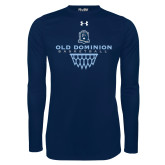 Under Armour Navy Long Sleeve Tech Tee-Basketball Net
