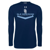 Under Armour Navy Long Sleeve Tech Tee-Baseball Plate
