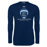 Under Armour Navy Long Sleeve Tech Tee-Wrestling Helmet