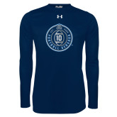 Under Armour Navy Long Sleeve Tech Tee-10 Years Football
