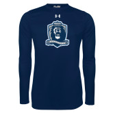 Under Armour Navy Long Sleeve Tech Tee-Monarchs Shield