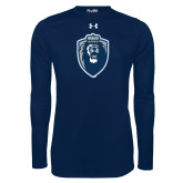 Under Armour Navy Long Sleeve Tech Tee-Lion Shield