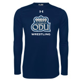 Under Armour Navy Long Sleeve Tech Tee-Wrestling