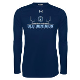 Under Armour Navy Long Sleeve Tech Tee-Football Field