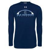 Under Armour Navy Long Sleeve Tech Tee-Football Inside
