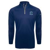 Under Armour Navy Tech 1/4 Zip Performance Shirt-Monarchs Shield