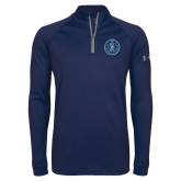 Under Armour Navy Tech 1/4 Zip Performance Shirt-10 Years Football