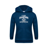 Youth Navy Fleece Hoodie-Conference USA Womens Golf Champions