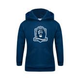 Youth Navy Fleece Hood-Monarchs Shield