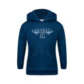 Youth Navy Fleece Hood-Football Wings