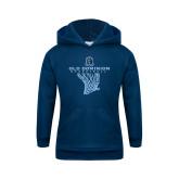 Youth Navy Fleece Hood-Basketball Net