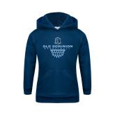 Youth Navy Fleece Hoodie-Basketball Net