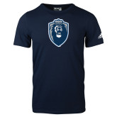 Adidas Navy Logo T Shirt-Lion Shield