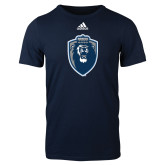 Adidas Navy Logo T Shirt-Lion Shield
