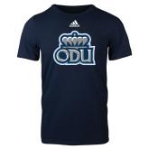 Adidas Navy Logo T Shirt-ODU w Crown