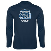 Performance Navy Longsleeve Shirt-Golf