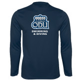 Performance Navy Longsleeve Shirt-Swimming and Diving