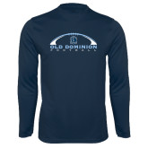 Performance Navy Longsleeve Shirt-Football Inside