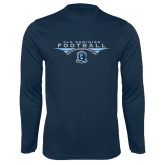 Performance Navy Longsleeve Shirt-Football Wings