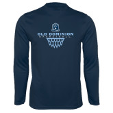 Performance Navy Longsleeve Shirt-Basketball Net